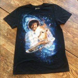 Bob Ross Official Cosmic Black Tee Shirt